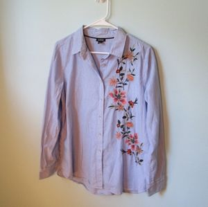 🔥3/$25 a.n.a. Cotton Embroidered Button Down